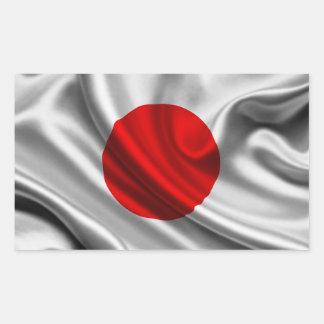 Tissu de drapeau du Japon Sticker Rectangulaire