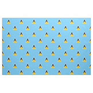 Tissu de drapeau du St Lucia bleu-clair