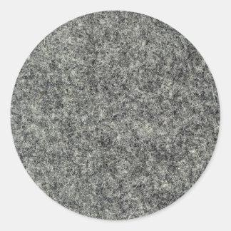 Tissu de feutre de gris sticker rond