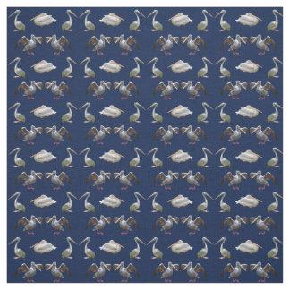 Tissu de frénésie de pélican (marine)