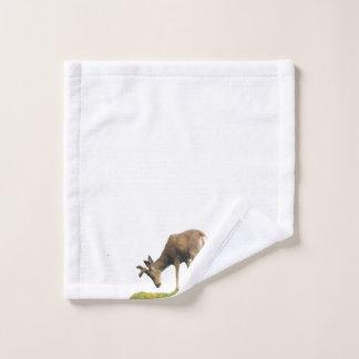 tissu de lavage avec des cerfs communs