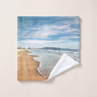 Tissu de lavage de plage sablonneuse