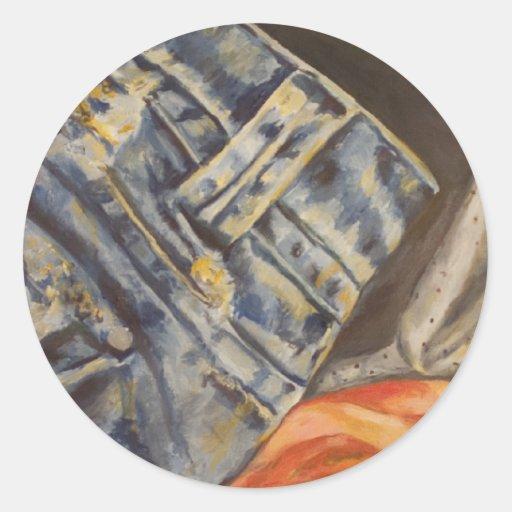 Tissu de mode adhésifs ronds