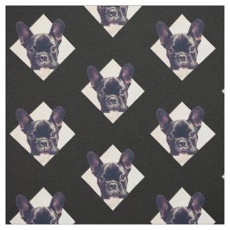 Tissu de motif de chiot de bouledogue français