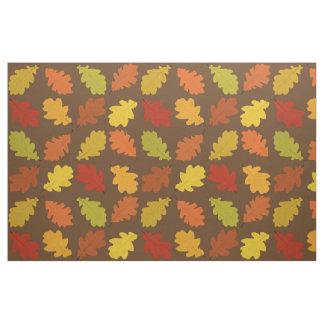 Tissu de motif de feuille de chêne de chute