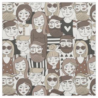 Tissu de motif de hippie