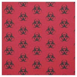 Tissu de motif de symbole de Biohazard