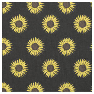 tissu de motif de tournesol