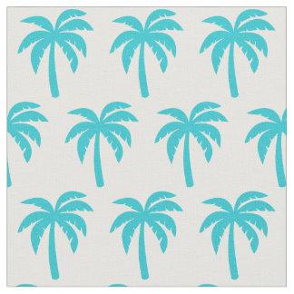 Tissu de palmier de turquoise d'Aqua