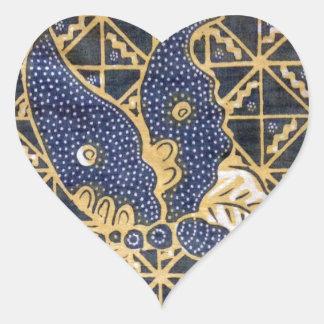 Tissu de papillon sticker cœur