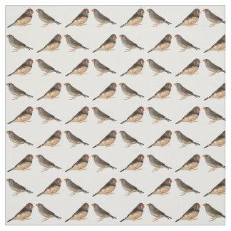 Tissu de pinsons de zèbre (choisissez la couleur)