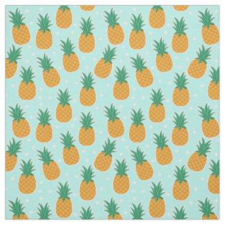 Tissu de point de polka d'Aqua d'été d'ananas
