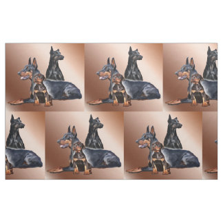 Tissu de race de chien de famille de dobermann
