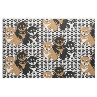 Tissu de race de chien de Shiba Inu