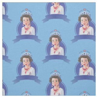 tissu de reine Elizabeth 2