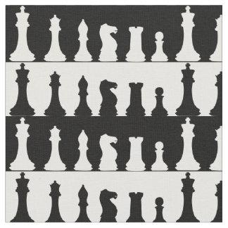 Tissu de silhouette de pièces d'échecs