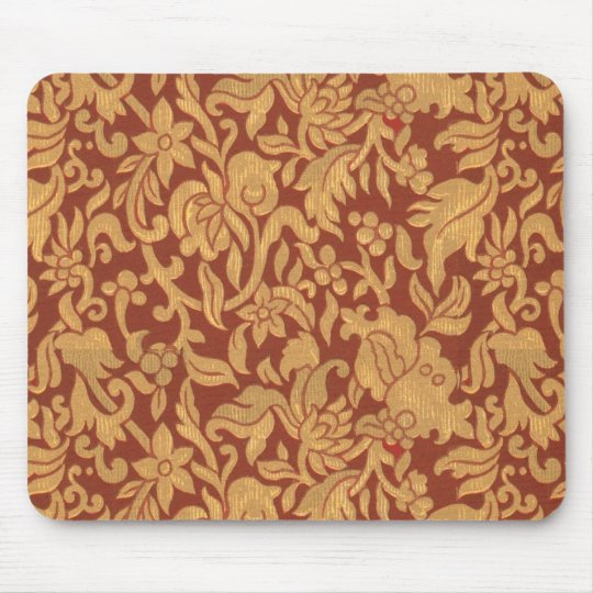 tissu de tapisserie d 39 ameublement vintage mousepad tapis de souris zazzle. Black Bedroom Furniture Sets. Home Design Ideas