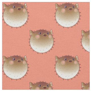 Tissu de thème d'océan de Pufferfish