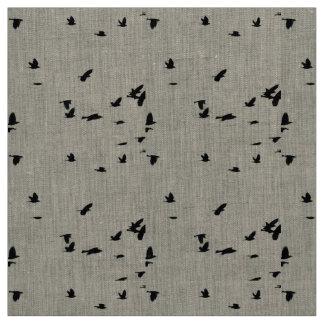 Tissu de toile d'oiseaux en vol
