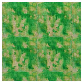 Tissu de toile naturel d'aquarelle de vert jaune