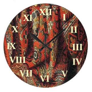 Tissu décoratif horloges