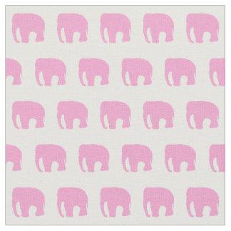 Tissu d'éléphant rose, le tissu des enfants