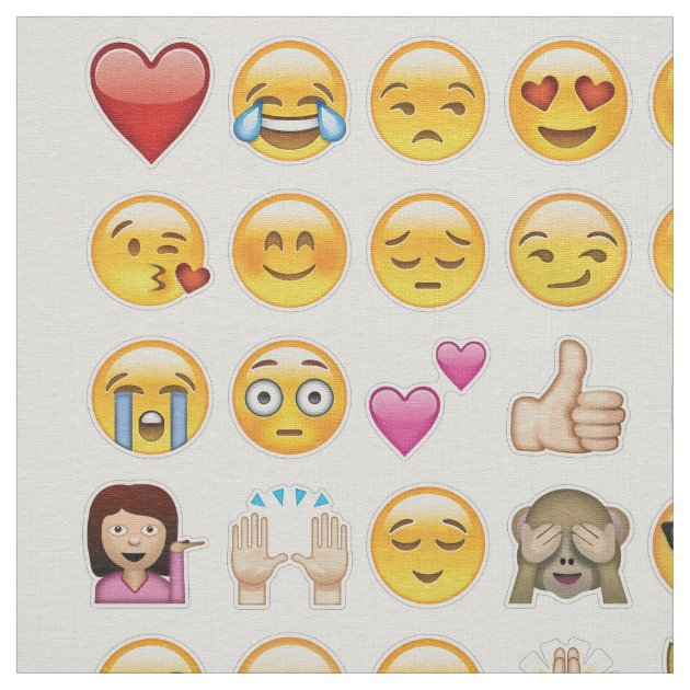 tissu d'emoji   Zazzle.fr