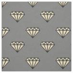 Tissu Diamant : noir, gris et blanc
