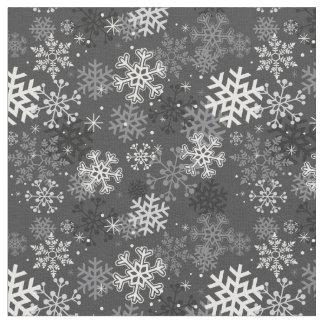 Tissu d'impression de flocon de neige d'amusement,