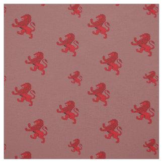 Tissu Drapeau antique effréné rouge de lion de l'Ecosse