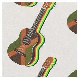 Tissu Drapeau jamaïcain de guitare de reggae de
