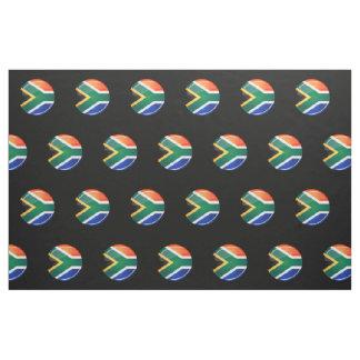 Tissu Drapeau sud-africain rond brillant