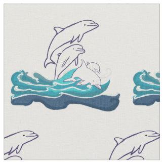 """Tissu du coton peigné par coutume de dauphins (56"""""""