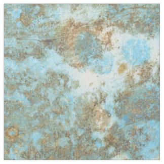 """Tissu du coton peigné par marbre de bleu/or (56"""""""
