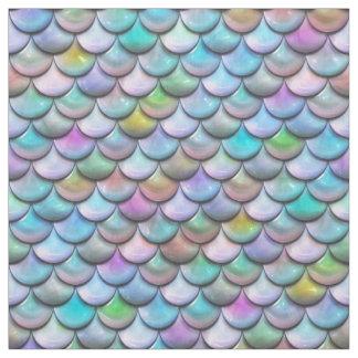 Tissu Échelles colorées perlées brillantes brillantes de