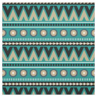 Tissu élégant moderne tribal aztèque d'or noir