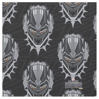 Tissu Emblème de tête de panthère noire de la panthère