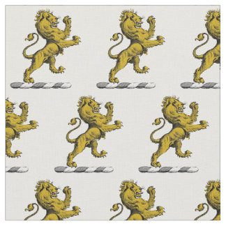 Tissu Emblème debout C de crête de lion héraldique