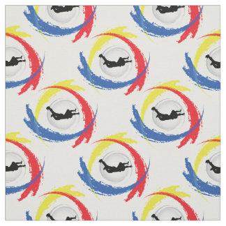 Tissu Emblème tricolore de sport de parachutisme