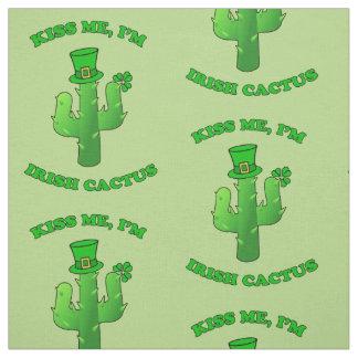 Tissu Embrassez-moi que je suis cactus irlandais avec le