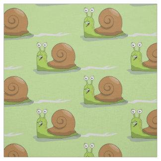 Tissu Escargots emballant le vert