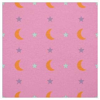 Tissu Étoiles et lune 2 de couleurs claires