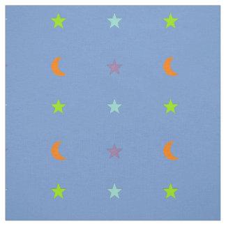 Tissu Étoiles et lune 3 de couleurs claires