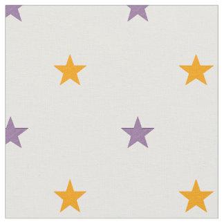 Tissu Étoiles jaunes et de pourpre
