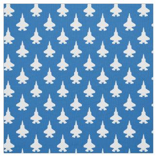 Tissu F-35 bleu blanc de motif d'avions de chasse de la