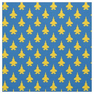 Tissu F-35 jaune d'avions de chasse de la foudre 2 sur