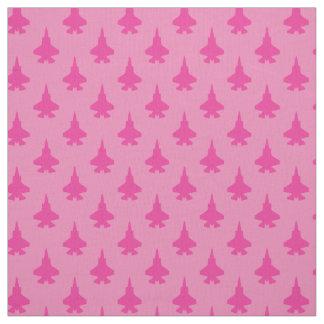 Tissu F-35 rose Girly de motif d'avions de chasse de la