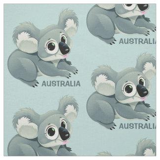 Tissu fait sur commande des textes de koala mignon