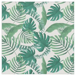 Tissu feuillu tropical d'impression