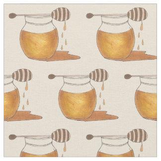 Tissu Fin gourmet doux d'or de sirop de pot à miel de